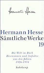 """Sämtliche Werke.  Bd.19 Tl.4  Die Welt im Buch."""""""""""
