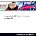 Die Zeit Audio, Ausgewählte ZEIT Texte zum Hören Nr. 9, 1 Audio-CD