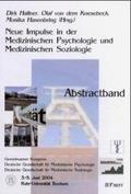Neue Impulse in der Medizinischen Psychologie und Medizinischen Soziologie