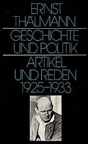 Geschichte und Politik. Artikel und Reden 1925-1933