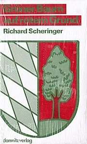 Grüner Baum auf rotem Grund