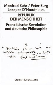 Dialektik 17. Die Philosophie und das Volk. 200 Jahre Französische Revolution