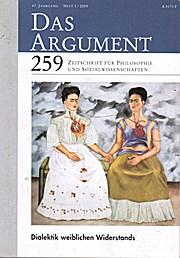 Das Argument 259. Zeitschrift für Philosophie und Sozialwisenschaften._Heft 1/2005, 47. Jahrgang. Dialektik í weiblichen Widerstands