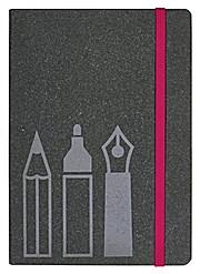 Home office Notizbuch Schreibutensilien 160 Seiten, grau