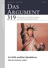 DAS ARGUMENT 319 – Zur Kritik westlicher Islamdiskurse