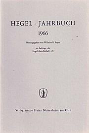 Hegel-Jahrbuch 1966. Hrsg. im Auftrag der Hegel-Gesellschaft e.V.