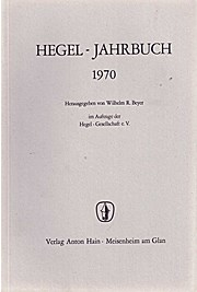 Hegel-Jahrbuch 1970