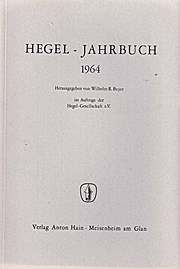 Hegel-Jahrbuch 1964.