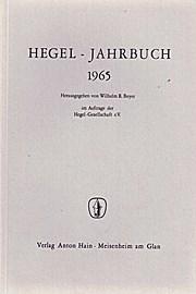 Hegel-Jahrbuch 1965.