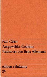 Ausgewählte Gedichte Edition Suhrkamp 262 ; 3518102627