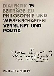 Dialektik 15. Vernunft und Politik. Studien zur Dialektik