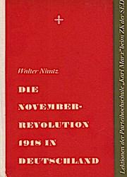 Die Novemberrevolution 1918 in Deutschland.