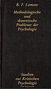 Methodologische und theoretische Probleme der Psychologie