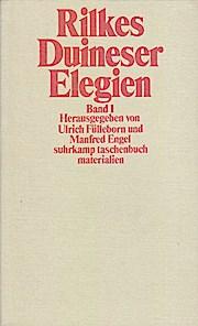 Rilkes Duineser Elegien II. Forschungsgeschichte.