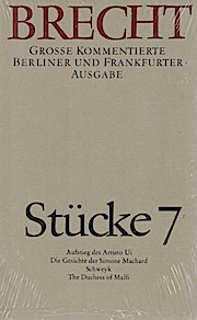 Stücke 7: Große kommentierte Berliner und Frankfurter Ausgabe, Band 7